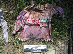 В Донецке из реки достали сумку с трупом маленькой девочки