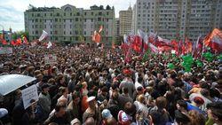 Полиция и российские оппозиционеры подрались на «Марше миллионов»