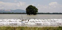 Наводнение в Хорватии бьет рекорды, уровень воды в Дунае превысил 7 м.