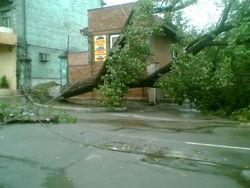 В Луганске преодолевают последствия урагана