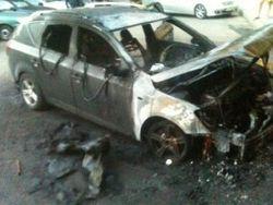 """Автомобиль активиста """"Дорожного контроля"""" сожгли в Ужгороде"""