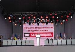 Объединенный съезд «Батькивщины» в Киеве завершился - выводы