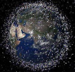 Предложен новый, дешевый и эффективный метод борьбы с космическим мусором