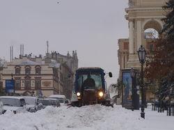 Одессе грозит транспортный коллапс из-за снега и морозов