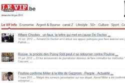 Le Vif.be: правда и вымыслы о «черном списке Путина»