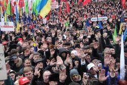 За годы правления Януковича число протестных акций выросло в 1,6 раза