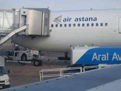 Из-за задымления на борту в Шымкенте сел самолет
