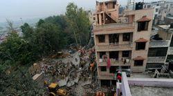 В Индии рухнул строящийся дом: 27 погибших