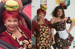 Мода и PR: мать Наташи Королевой увидели с гамбургером на голове