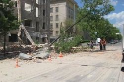В центре Харькова рухнула стена дореволюционного здания
