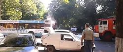 В Одессе огнем пылал автобус, набитый людьми