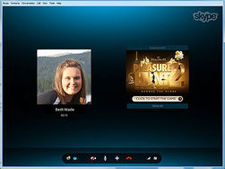 Skype разместит рекламу при звонках