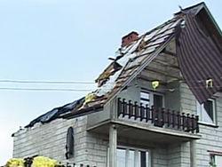 Мощная буря с градом и порывистым ветром обрушилась на юг Польши