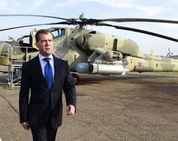 Медведев открыл президентский авиамаршрут из Кремля на вертолете