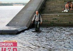 В Киеве Днепр затопил подземные переходы на Набережном шоссе