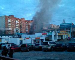 В городе-спутнике Киева Вышгороде едва не взлетел на воздух торговый центр