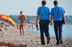 Пляжи Крыма начали патрулировать милиционеры