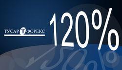 «Тусар Форекс»: платим партнерам дополнительно 120%