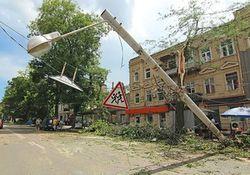 Ущерб от урагана в Одессе – не менее 23 миллионов гривен