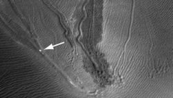 Ученые рассказали, откуда произошли странные «овраги» на марсианских дюнах