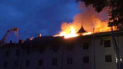 Пожар в Рижском замке уничтожил почти все залы
