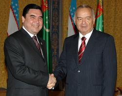 Ислам Каримов и Гурбангулы Бердымухаммедов