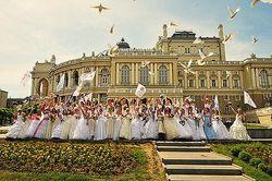 В Одессе в пятый раз прошел парад невест