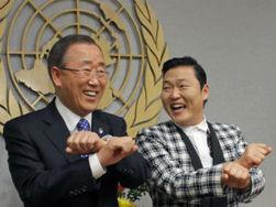 В ООН станцевали самые известные корейцы - Генсек Пан Ги Мун и рэппер PSY