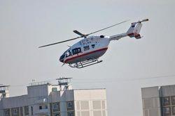 Автомобили,попавшие в ДТП в Москве, эвакуируют вертолетом