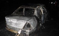 Правонарушитель поджег себя в салоне машины