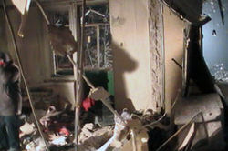 Взрыв газа разрушил новый жилой дом
