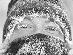 На Украине зафиксирована самая низкая температура