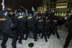 разгон демонстрации в Беларуси