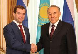 Дмитрий Медведев и Нурсултан Назарбаев