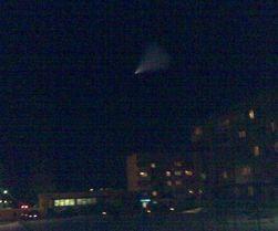 В Качканаре сняли на видео НЛО, от которого исходил яркий свет