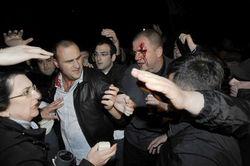 грузинская полиция разогнала акцию протеста