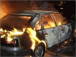 В Киеве, двое сгорели в автомобиле