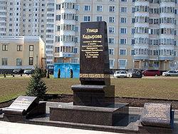 Кто осквернил памятник Кадырову в Москве?