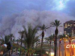 Каковы последствия мощной пылевой бури в Аризоне?