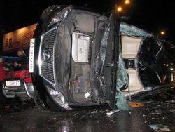 Девушка, которая разбила авто Лукьяненко, в больнице