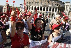 Как итальянцы протестуют против экономии бюджета?
