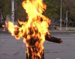 В Китае участились случаи самосожжения