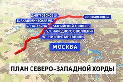 В Москве планируется строительство Северо-западной хорды