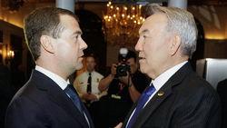 Нурсултан Назарбаев и Дмитрий Медведев