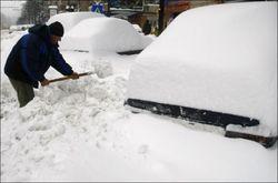 Румыния страдает от мощных снегопадов