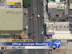 Стрельба в Голливуде съемками фильма не была: ранен человек