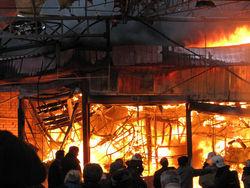 пожар на строительном рынке