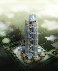 В китайской деревне построили гостиницу-небоскреб