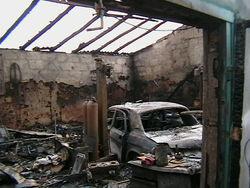 Ночью в Улан-Удэ в гаражах произошел пожар