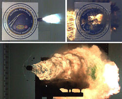 Испытания рельсотрона в Naval Surface